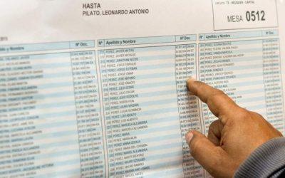 PADRÓN DEFINITIVO ELECCIONES GENERALES SAN RAFAEL 2019