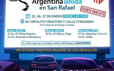 SAN RAFAEL ES SEDE DEL FESTIVAL DE AUTOCINE GRATUITO