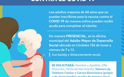 VACUNACIÓN COVID-19: INSCRIPCIÓN A ADULTOS MAYORES DE 60 AÑOS
